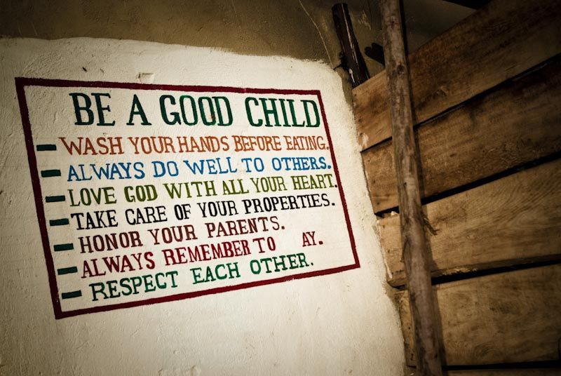 Be a good child...