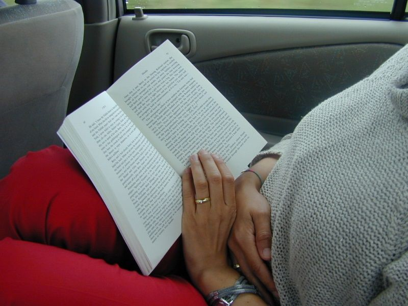 Reading in the car: 2