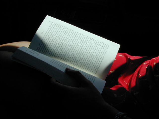 reading in the car